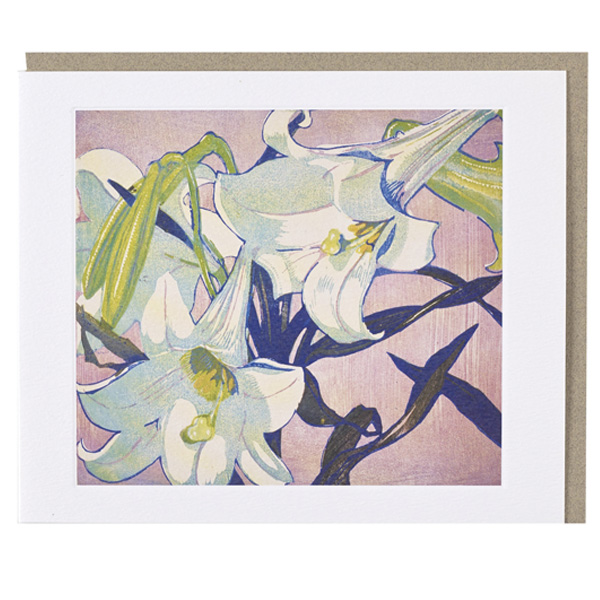 White Lilies Mabel Royds Greeting Card