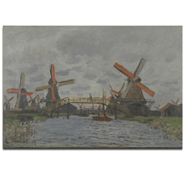 Windmills near Zaandam by Claude Monet poster print (40 x 30 cm)