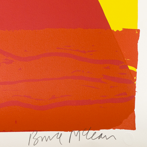 Wish you were here by Bruce McLean limited edition screenprint