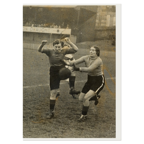 Women's charity football match greeting card