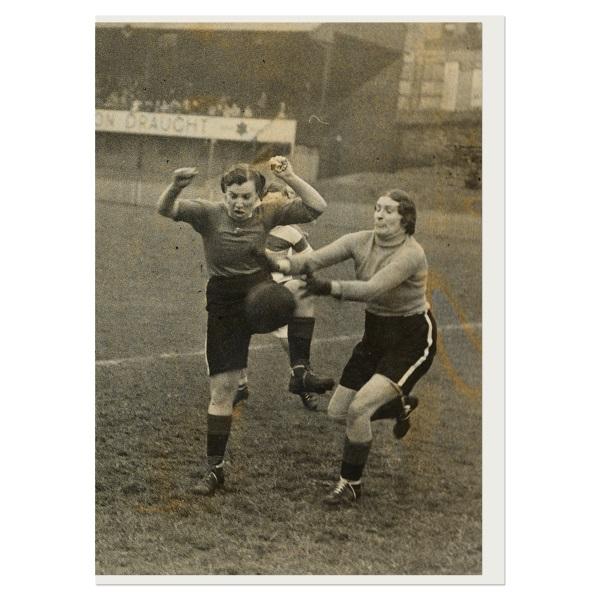 Women's charity football match greeting card