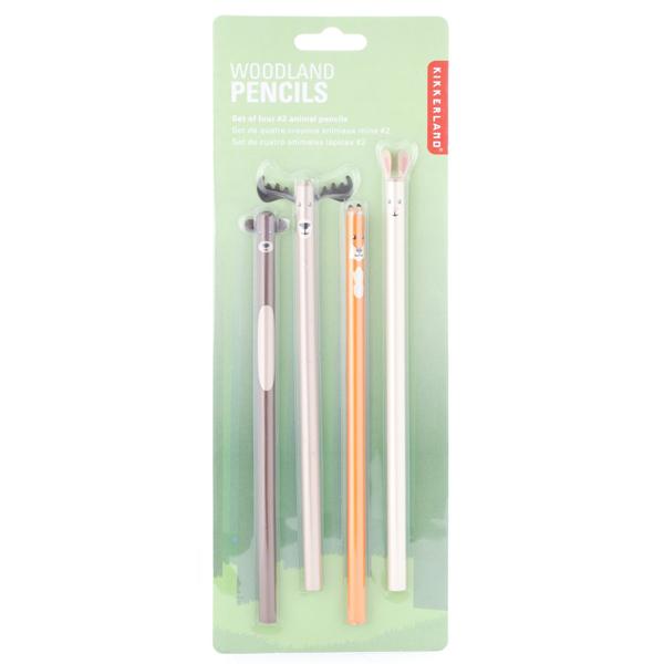 Woodland Animal pencil set (4 graphite pencils)