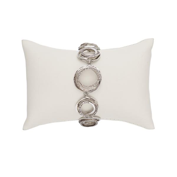 Wound circles silver bracelet