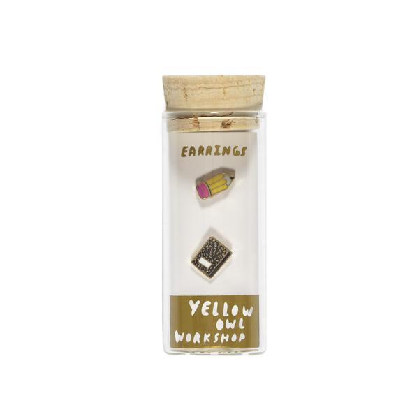 Pencil & Journal earrings