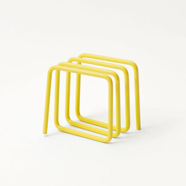 Yellow loop letter rack
