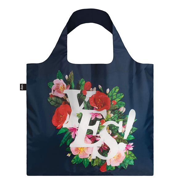 Yes by Antonio Rodrigues reusable water-resistant carrier bag