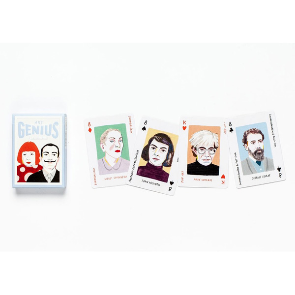 Art Genius Playing Cards by Rebecca Clarke