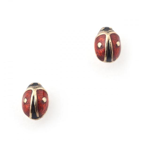 Mini ladybird stud earrings