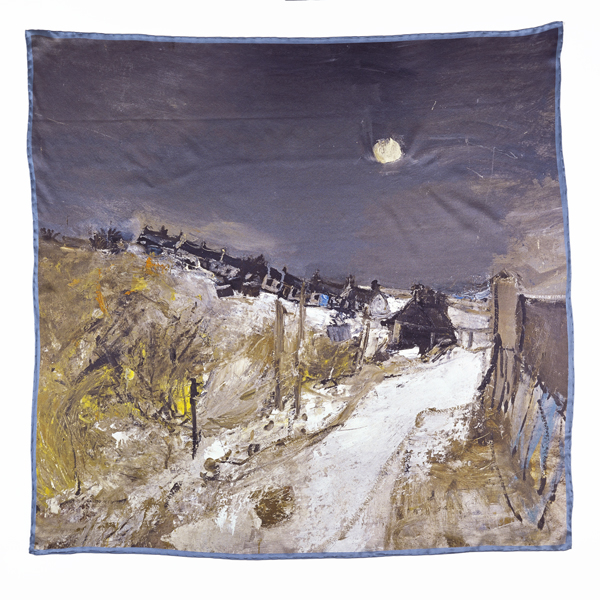 Catterline in Winter Joan Eardley Silk Scarf