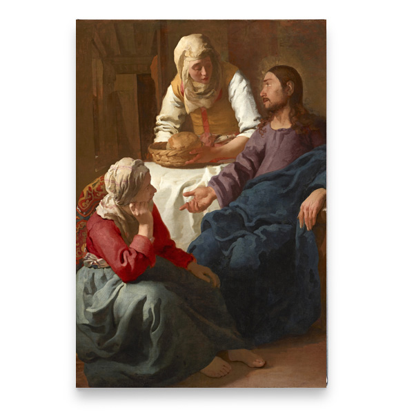 Christ in the House of Martha and Mary by Johannes Vermeer magnet