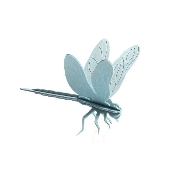 Light blue dragonfly flat pack construction kit
