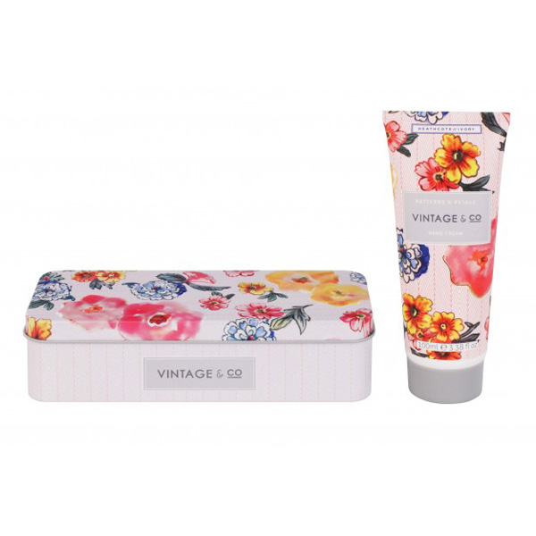 Vintage & Co Patterns & Petals Hand Cream in Tin