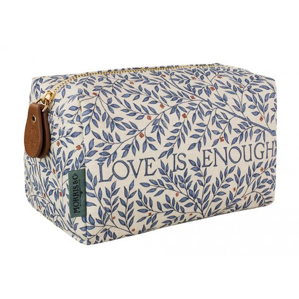 Morris & Co Love is Enough Medium Linen Cosmetic Bag
