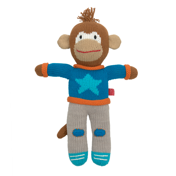 Knitted Jimmy Chimp (blue jumper)