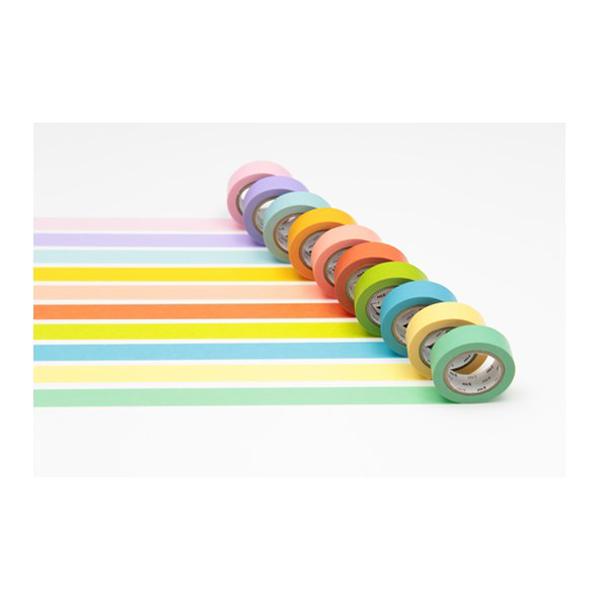 Washi masking tape light colour gift box (10 rolls)