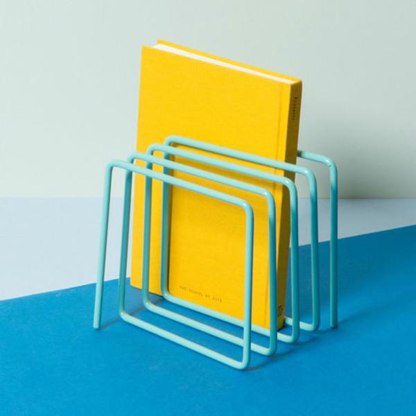 Blue loop magazine rack