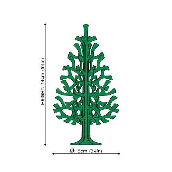 Natural wood spruce wooden flat pack decoration kit (14cm)