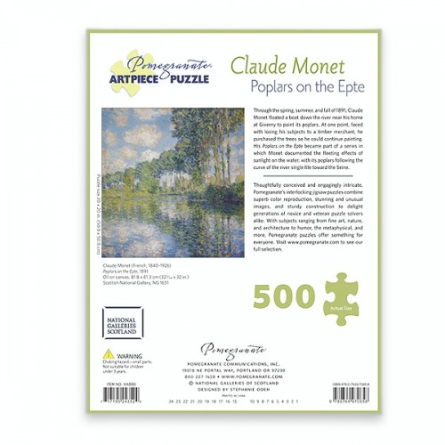 Poplars on the Epte by Claude Monet jigsaw puzzle (500 pieces)