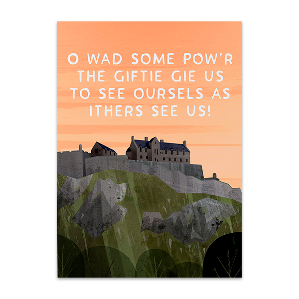 Robert Burns see oursels quote greeting card