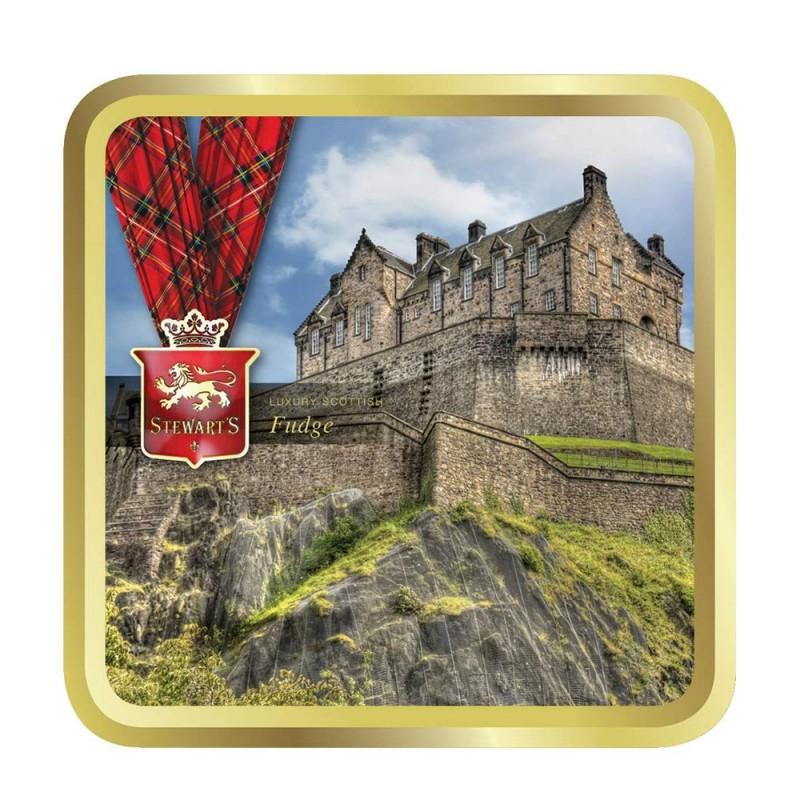 Stewart's Scotland Edinburgh Castle luxury fudge (100g tin)