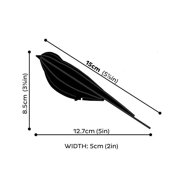 Black swallow wooden flat pack construction kit (15cm)