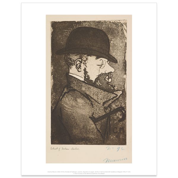 Portrait of Toulouse-Lautrec by Charles Maurin art print
