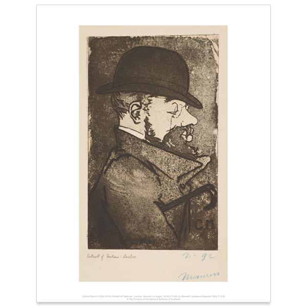 Portrait of Toulouse-Lautrec Charles Maurin Art Print