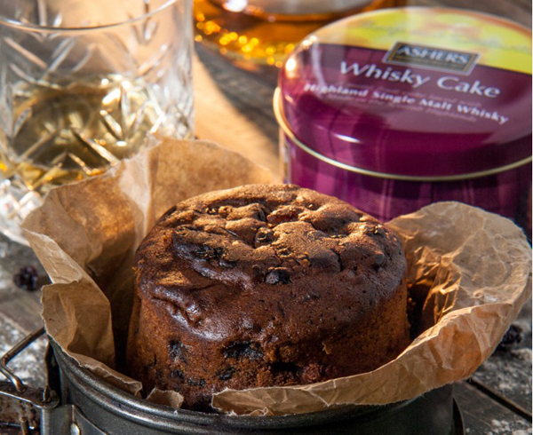 Scottish highland single malt whisky fruit cake