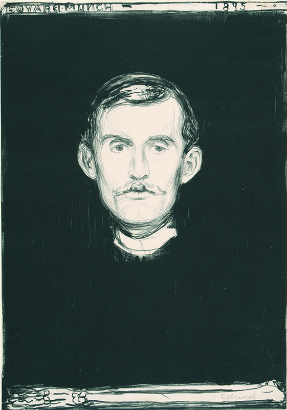 Edvard Munch, Self Portrait with Skeleton Arm. Courtesy the Gundersun Collection