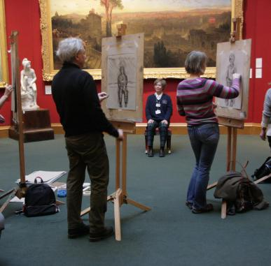 Easel Sketching in the Gallery