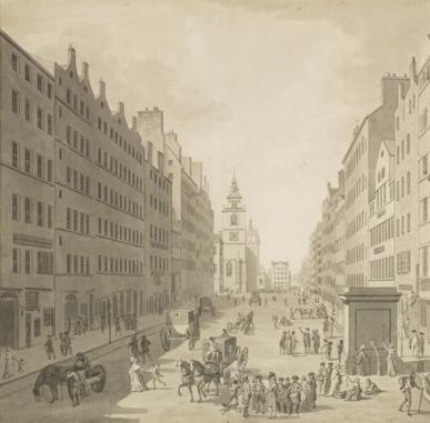 David Allan and the High Street of Edinburgh