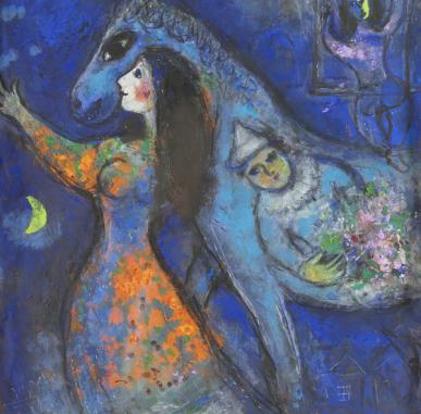 Visually Impaired Programme Online: Marc Chagall | The Horse Rider