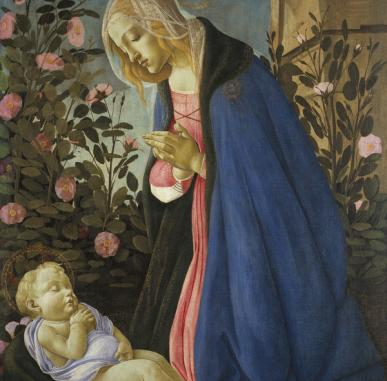 In Focus:  The Virgin Adoring the Sleeping Christ Child by Botticelli