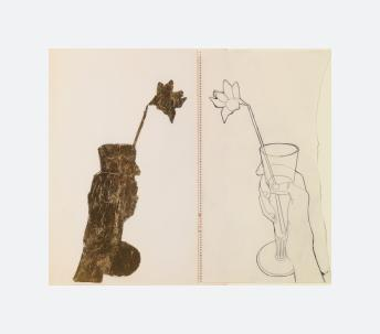 Hand Holding Glass with Daffodil (1957)