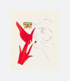 Head with Red Gloves and Butterfly (1959)