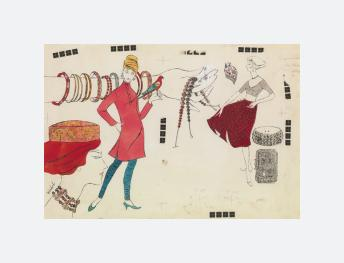 Female Figures and Fashion Accessories (1960)