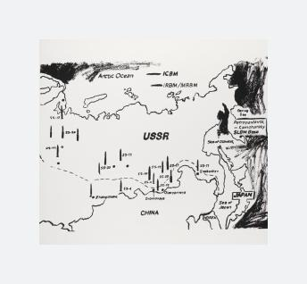Map of Eastern U.S.S.R. Missile Bases (1985 - 1986)