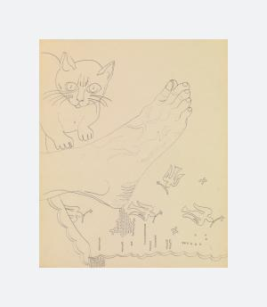 Foot with Cat (1955 - 1957)