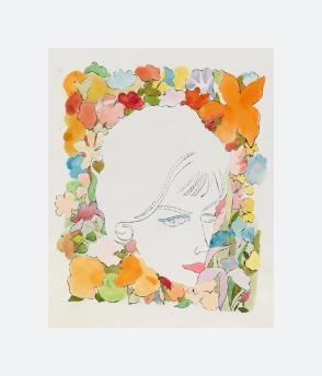 Head with Flowers (1958)