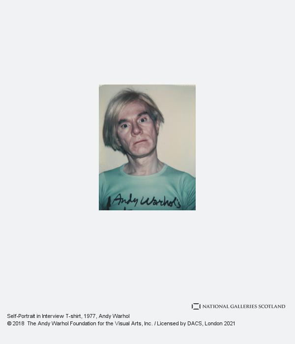 Andy Warhol, Self-portrait in Interview T-shirt (1977 - 1978)