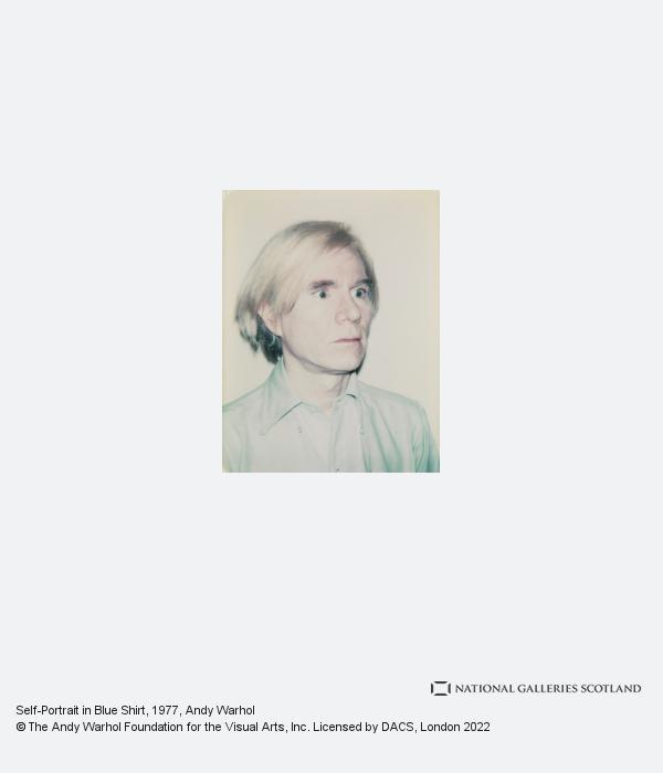 Andy Warhol, Self-Portrait in Blue Shirt (1977-1978)