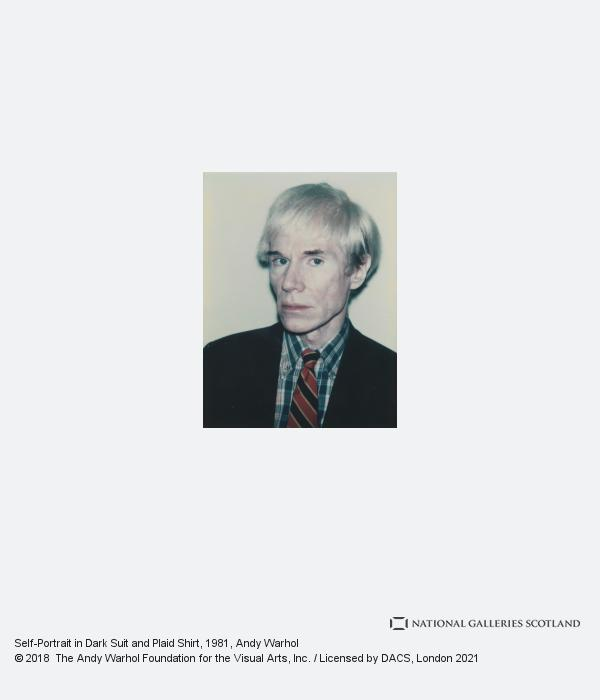 Andy Warhol, Self-Portrait in Dark Suit and Plaid Shirt (1981)