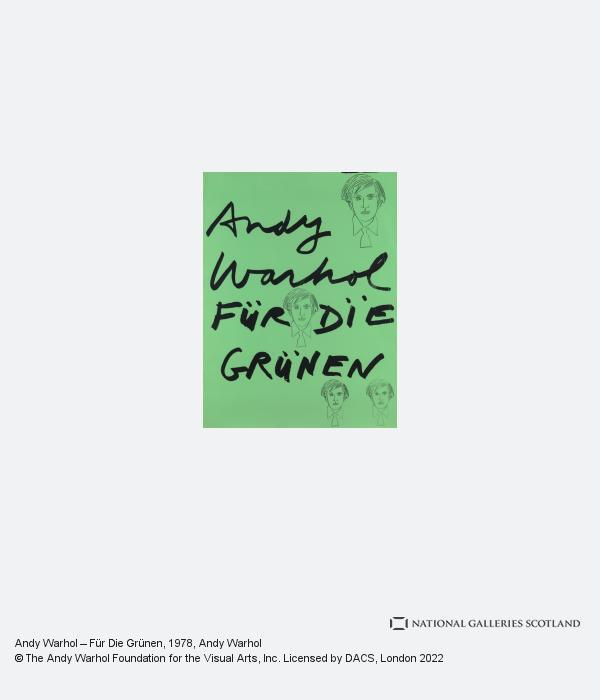 Andy Warhol, Andy Warhol - Fur Die Grunen (1978)