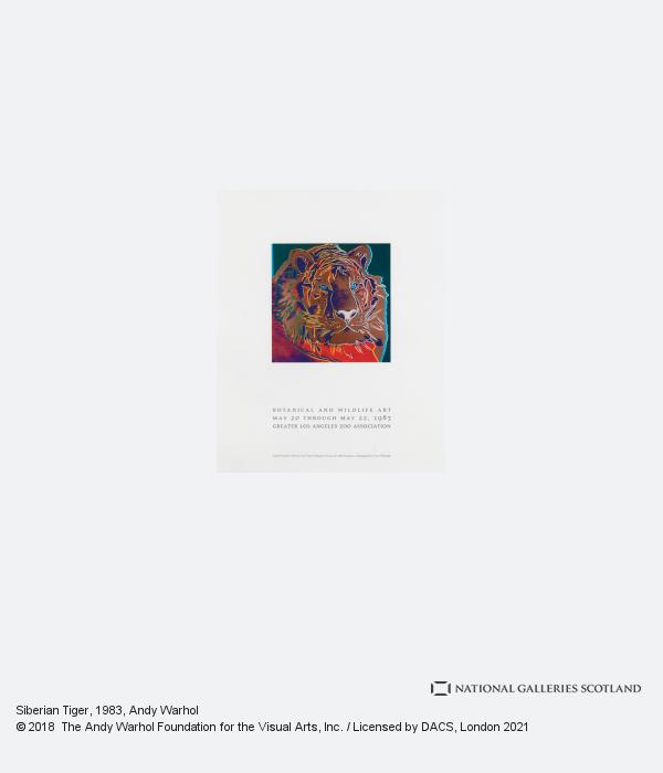 Andy Warhol, Siberian Tiger (1983)