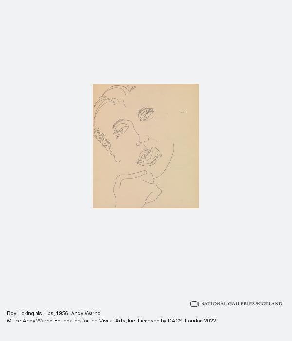 Andy Warhol, Boy Licking his Lips (1956)