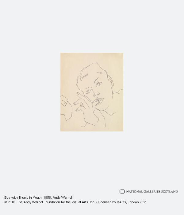 Andy Warhol, Boy with Thumb in Mouth (1956)