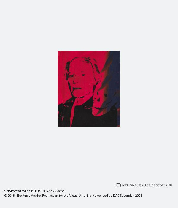 Andy Warhol, Self-Portrait with Skull (1978)