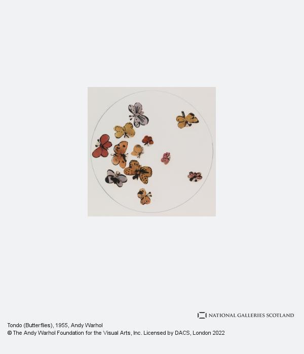 Andy Warhol, Tondo (Butterflies) (1955)