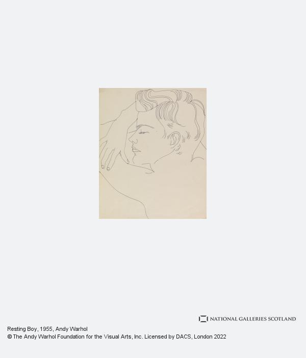 Andy Warhol, Resting Boy (1955 - 1957)