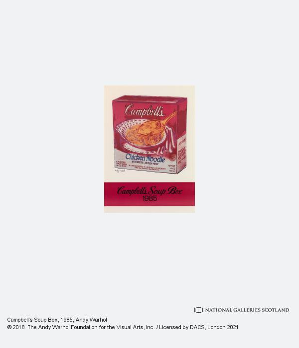 Andy Warhol, Campbell's Soup Box (1985)